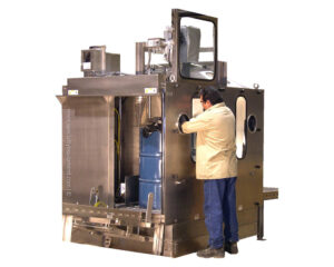 Stainless Fume Booth Drum Filler